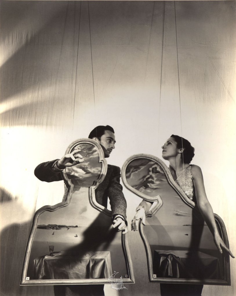 Cecil Beaton, Salvador Dalí and Gala with A Couple with Their Heads Full of Clouds, 1936