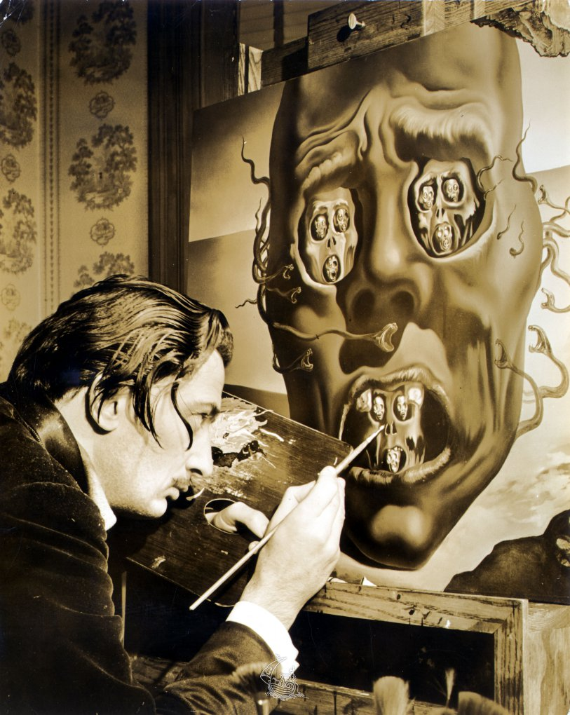 Eric Schaal, Salvador Dalí painting The Face of War, 1941