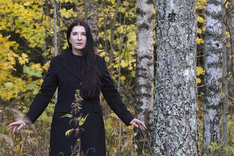 Portrait of Marina Abramovic | © Knut Bry and Ekebergeparken Oslo, 2013