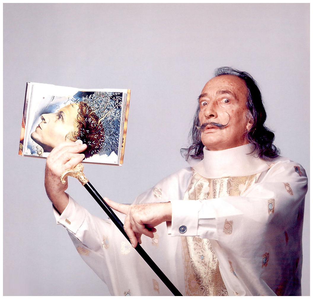 Salvador Dali,1973, photo by Francesco Scavullo