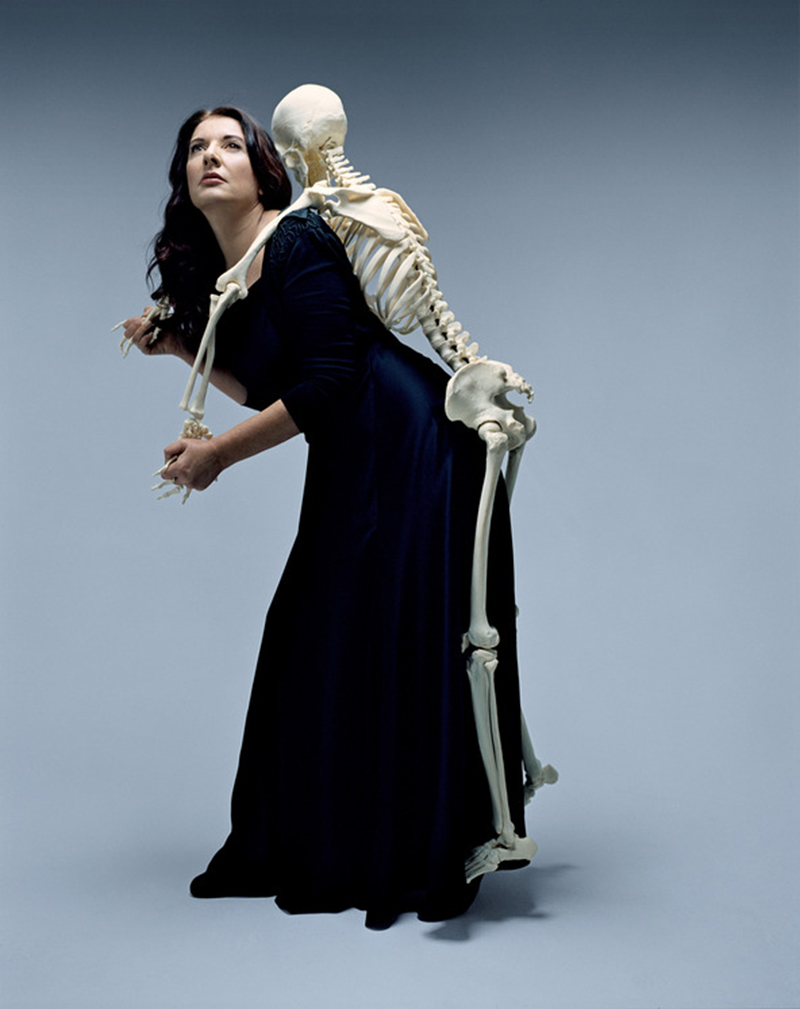 "Marina Abramović, ""Carrying the Skeleton"", 2008"