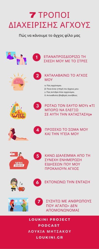 7 τρόποι διαχείρισης άγχους